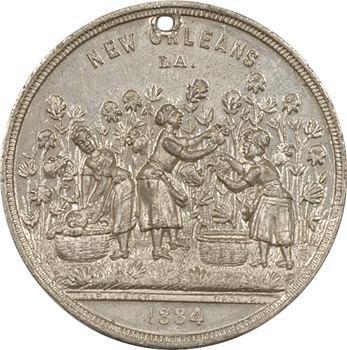 États-Unis, exposition de La Nouvelle Orléans, centenaire du coton, Cotton Centennial Globe Dollar, 1885