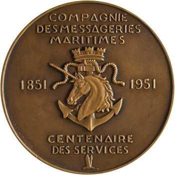 Compagnie des Messageries Maritimes, centenaire des services, 1851-1951 Paris