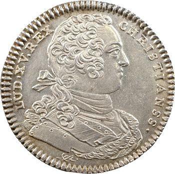 Louis XV, jeton argent des colonies françaises de l'Amérique, 1754