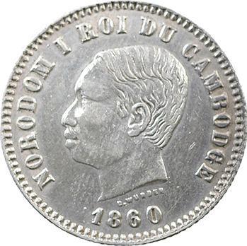 Cambodge, Norodom Ier, un franc, 1860 Bruxelles