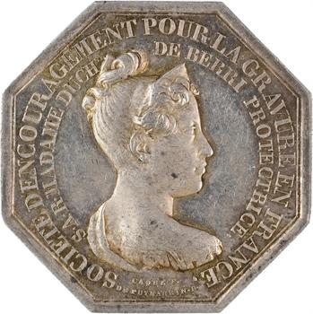 Duchesse de Berry, Société d'encouragement pour la gravure, 1829 Paris