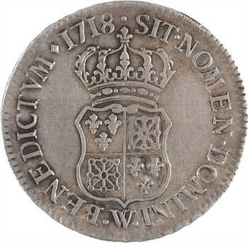 Louis XV, demi-écu de Navarre, 1718 Lille