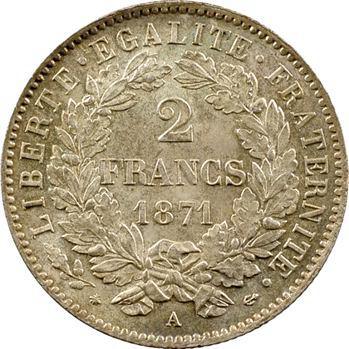 IIIe République, 2 francs Cérès, 1871 Paris