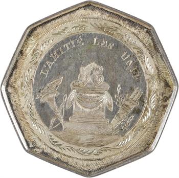 Charles X, médaille de mariage en taille directe, 1826