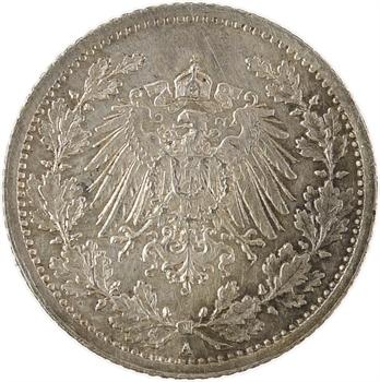 Allemagne, 1/2 mark Empire, 1914 Berlin