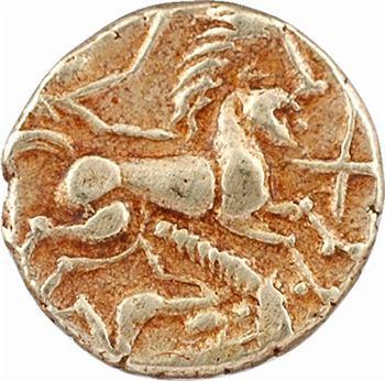 Redones (ou Riédons), quart de statère au personnage couché à la natte, c.80 av. J.-C