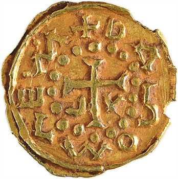 Aquitaine, Saint-Paulien (Haute-Loire), trémissis du monétaire Dagomares, c.600-650