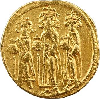 Héraclius, Héraclius Constantin et Héraclonas, solidus, Constantinople, 1re officine, 638-639