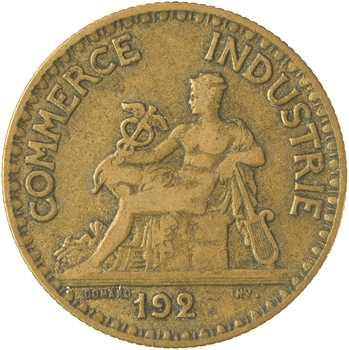 IIIe République, 2 francs Chambres de commerce, coin bouché : 192[6] Paris