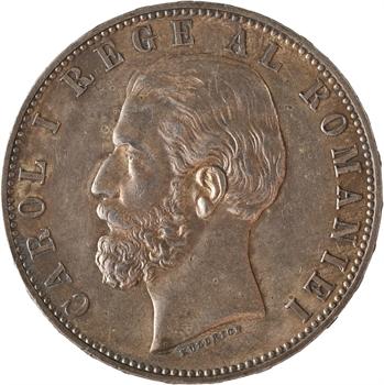 Roumanie, Charles Ier, 5 lei, 1883 Bucarest
