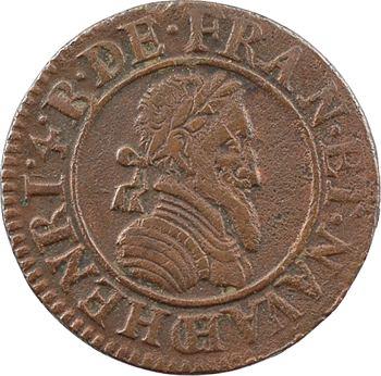 Henri IV, double tournois 2e type (NAVA), 1591 Châlons-en-Champagne