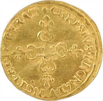 Charles X, écu d'or au soleil, 1590 Paris