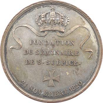 Louis XVIII, fondation du séminaire de Saint Sulpice par Pie VII, 1820 Paris