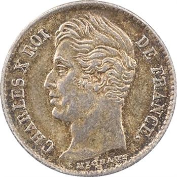 Charles X, 1/4 de franc, 1829 Lille