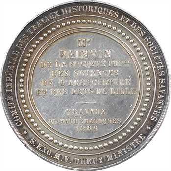 Second Empire, prix de la Société Impériale des Travaux Historiques et des Sociétés Savantes (mathématiques), 1866 Paris