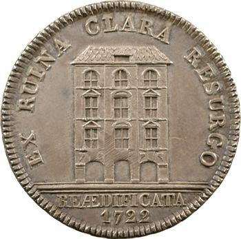 Suisse, Berne, jeton, frappe moderne, reconstruction de la maison de la Guilde, 1722 (1904)