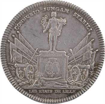 Louis XV, sacre à Reims le 25 octobre 1722, les États de Lille, par Rög et Blanc, argent, s.d. (1723) Paris