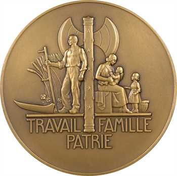 IIe Guerre Mondiale, le Maréchal Pétain, par Pierre Turin, grand module, 1941 Paris
