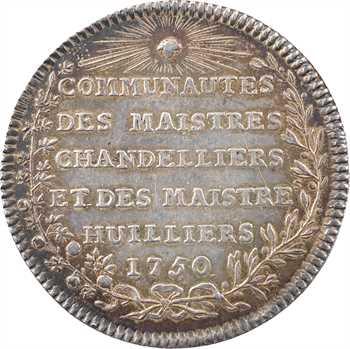 Louis XVI, Communautés des Maîtres chandeliers et huilliers, 1750 Paris