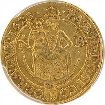Roumanie, Transylvanie, Gabriel Bethlen, ducat, 1625 Nagybanya (Baia Mare), PCGS AU55