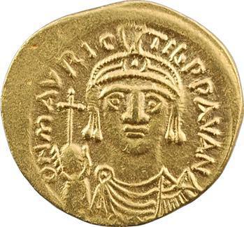 Maurice Tibère, solidus, Carthage, An 4 = 585-586