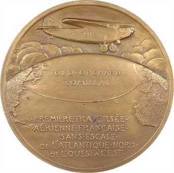 Aviation : Assollant, Lefèvre et Lotti traversent l'Atlantique nord, par Anie Mouroux, 1929 Paris