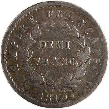 Premier Empire, demi-franc Empire, 1810 Paris