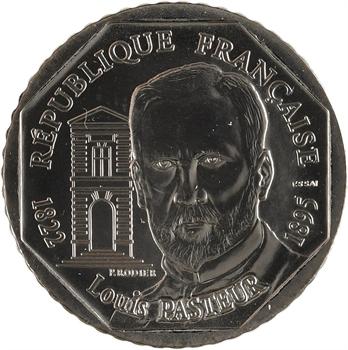 Ve République, essai de 2 francs Louis Pasteur, 1995 Pessac