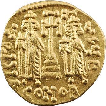 Constantin IV, solidus, Constantinople, 2e officine, c.674-681