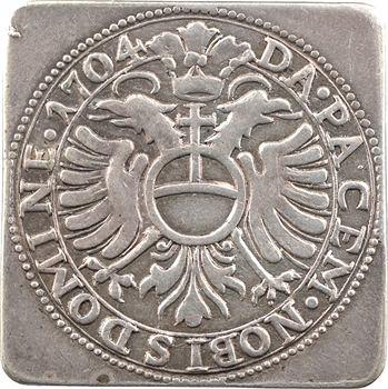Allemagne, Ulm (ville de), gulden klippe (florin de siège), 1704 Ulm