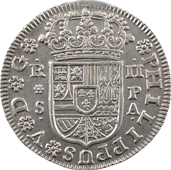 Espagne, Philippe V, 2 réaux, 1732 Séville