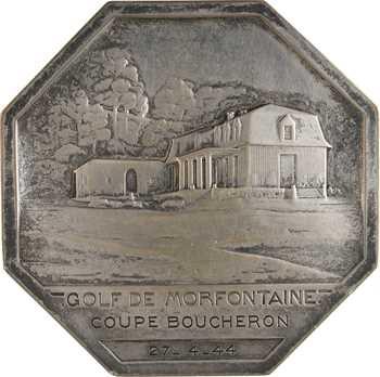 Lenoir (P.) : Le golf de Mortfontaine, coupe Boucheron, 1944 Paris