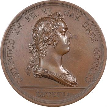 Louis XV, naissance du Dauphin, par Duvivier, grand module, 1729 Paris