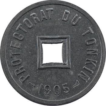 Tonkin, 1/600e piastre en zinc, 1905 Paris