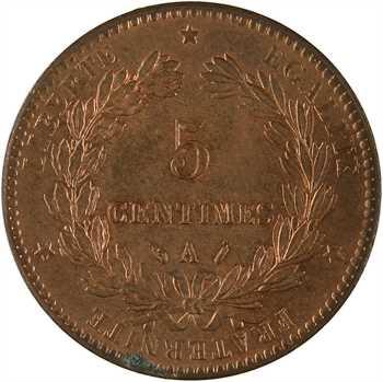 IIIe République, 5 centimes Cérès, 1888 Paris