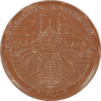 IIIe République, Paris : Exposition universelle, médaille bakélite, 1878 Paris