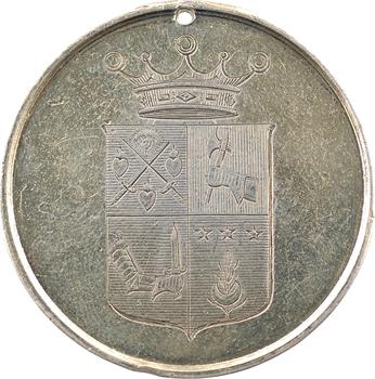 Second Empire, médaille du mariage du Vicomte Alexandre Léopold Berthier et de Marie Victorine Clary, 1857 Paris