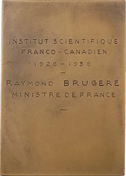 Prud'homme (G.-H.) : Congrès scientifique franco-canadien, au Ministre Raymond Brugère, 1936 Paris