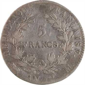 Premier Empire, 5 francs buste intermédiaire, An 12 Toulouse