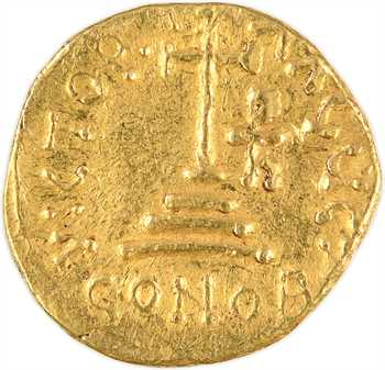 Héraclius, avec Héraclius Constantin et Héraclonas, solidus, s.d. (c.630-641), Sicile