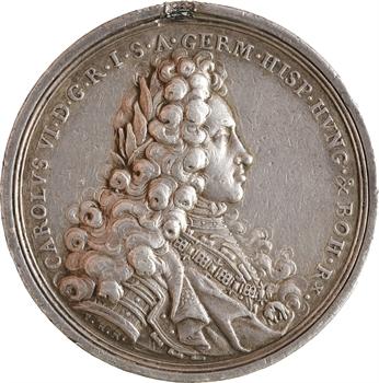Saint Empire, Charles VI, Arc de triomphe de Vienne ?, par Philipp Heinrich Müller, 1712