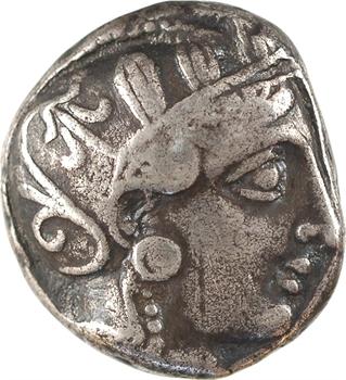 Attique, Athènes, tétradrachme de style intermédiaire, c.393-355 av. J.-C.