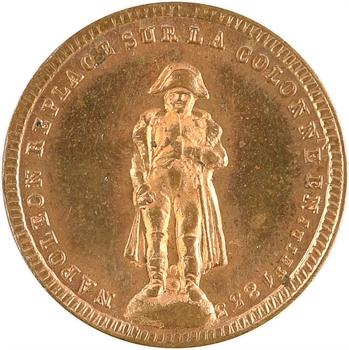 Louis-Philippe Ier, Napoléon replacé sur la colonne, jeton de 20 jetons, 1833 Paris