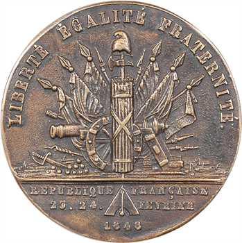 IIe République, commémoration des journées de février, par Caqué, 1848 Paris