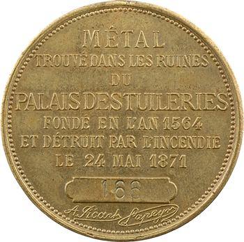IIIe République, métal du Palais des Tuileries, 1883 Paris