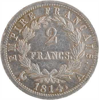 Premier Empire, 2 francs Empire, 1814 Paris