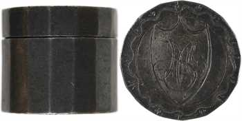 Premier Empire, treizain de mariage, boîte en argent et deux deniers et demi, 1813
