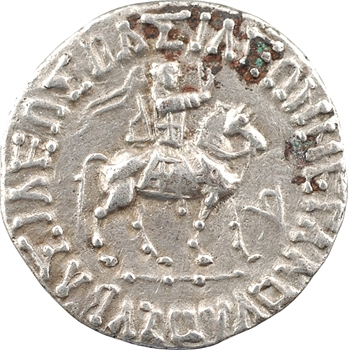 Royaume Indo-Scythe, Azès II, tétradrachme (Pallas), c.20 av. J.-C.-1 av. J.-C. Taxila Sirsukh
