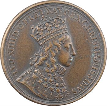 Louis XIV, sacre à Reims le 7 juin 1654, bronze, 1654 [postérieur] Paris