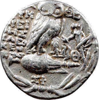 Athènes, tétradrachme stéphanophore, c.196-87 av. J.-C.